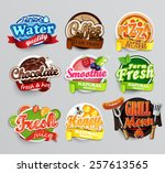 Set Of Stickers Of Food    Far...