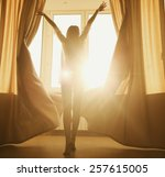 woman in the morning.... | Shutterstock . vector #257615005