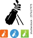golf bag with clubs icon | Shutterstock .eps vector #257617975