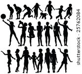 children playing silhouettes  ... | Shutterstock .eps vector #25762084
