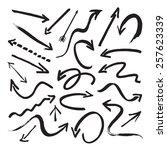 group of vector black arrows  | Shutterstock .eps vector #257623339