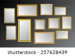 gold frame on the black... | Shutterstock .eps vector #257628439
