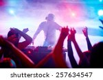 charismatic disc jockey at the... | Shutterstock . vector #257634547
