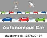 autonomous car image... | Shutterstock .eps vector #257637439