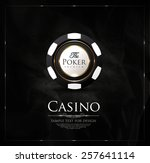 casino background vintage... | Shutterstock .eps vector #257641114