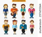 set of professions.... | Shutterstock .eps vector #257655364