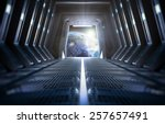 futuristic interior of a space... | Shutterstock . vector #257657491