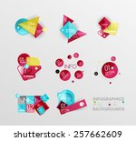 set of geometric abstract shape ...   Shutterstock .eps vector #257662609
