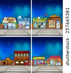 Four Scenes Of Stores At Night