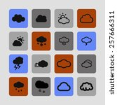 cloud icon set | Shutterstock .eps vector #257666311