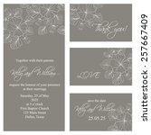 wedding invitation  thank you... | Shutterstock .eps vector #257667409