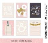 set of 6 creative journaling...   Shutterstock .eps vector #257667967