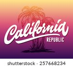 hand lettered california... | Shutterstock .eps vector #257668234