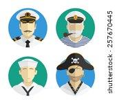 avatars people profession.... | Shutterstock .eps vector #257670445