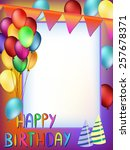 colorful happy birthday words... | Shutterstock . vector #257678371