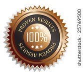 100 percent proven results... | Shutterstock . vector #25769500