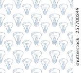 bulbs  seamless pattern.   Shutterstock .eps vector #257700349