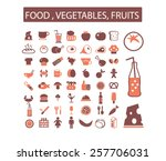 food  restaurant  drink  fruits ... | Shutterstock .eps vector #257706031