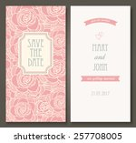 vintage vector card templates.... | Shutterstock .eps vector #257708005