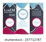 tri fold brochure template | Shutterstock .eps vector #257712787