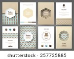 set of brochures in vintage... | Shutterstock .eps vector #257725885