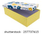empty gift box on white...   Shutterstock . vector #257737615