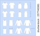 simple vector illustration. set ... | Shutterstock .eps vector #257740381