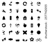 set of ecology icons | Shutterstock .eps vector #257742055
