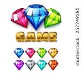 cartoon diamond shaped gem...