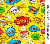 comic speech bubbles seamless...   Shutterstock .eps vector #257750785