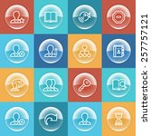 users icons with buttons on... | Shutterstock .eps vector #257757121