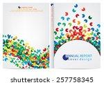 annual report cover design | Shutterstock .eps vector #257758345