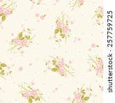 seamless floral pattern with  ... | Shutterstock .eps vector #257759725