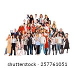 people diversity united... | Shutterstock . vector #257761051