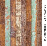 vintage aged blue cream brown... | Shutterstock . vector #257763499
