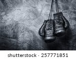 old boxing gloves | Shutterstock . vector #257771851