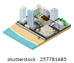 a vector illustration of a city ... | Shutterstock .eps vector #257781685