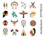 ethnic american idigenous... | Shutterstock .eps vector #257782114
