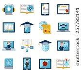 e learning internet education... | Shutterstock .eps vector #257782141