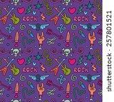 rock music background. seamless ... | Shutterstock .eps vector #257801521