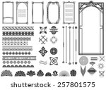 Vector illustration of a set of art deco hi-tech borders, frames and other design elements for scrapbook, web designs and other decorations