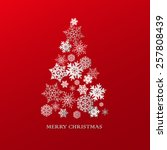 christmas tree made of white... | Shutterstock .eps vector #257808439