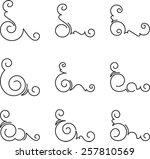 set of 9 decorative corners. | Shutterstock .eps vector #257810569