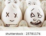 egg is scared as it sees dead...   Shutterstock . vector #25781176