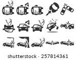 car crash insurance vector... | Shutterstock .eps vector #257814361