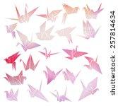 origami crane | Shutterstock .eps vector #257814634