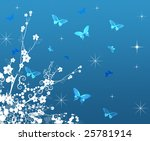 butterfly flower   Shutterstock . vector #25781914