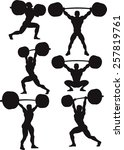 weightlifte silhouettes | Shutterstock .eps vector #257819761
