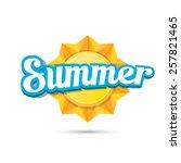 beautiful summer illustrations .... | Shutterstock .eps vector #257821465
