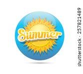 beautiful summer illustrations .... | Shutterstock .eps vector #257821489